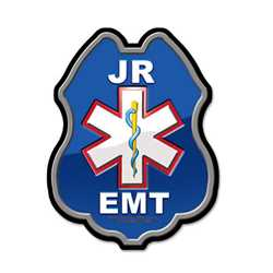 Junior EMT Plastic Clip-On Badge EMT badge, kids EMT badge, junior EMT badge, EMT plastic badge, fire prevention products, fire safety products, fire fighting