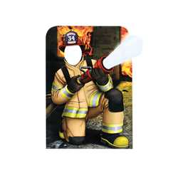 "Lineman Firefighter Photo Prop 36"" X 45"" firefighting, fire safety product, fire prevention, cut outs, photo props, firefighter, photo prop, cut out"